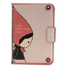 Buy Mr.H Little Red Riding Hood for iPad Mini Magnetic Wallet Leather Case Stand