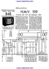 Buy HMV 1605 Wireless Service Manual by download Mauritron #326740