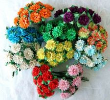 Buy 50 MIXED MULBERRY PAPER DAISY FLOWER ARTIFICIAL EMBELLISHMENT SCRAPBOOK 1.5 cm