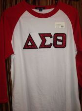Buy Delta Sigma Theta Glitter Baseball Tee-Medium
