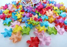 Buy 100 MULBERRY PAPER FLOWERS BLOOMS COLOURS ASSORTED BRIGHT CRAFT EMBELLISHMENTS