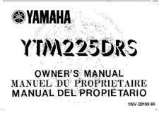 Buy Yamaha 1NV-28199-60 Quad ATV Bike Manual by download #333926