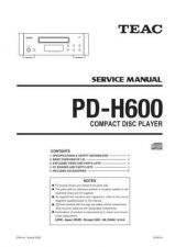 Buy Teac PDH600 Service Manual by download Mauritron #319484