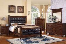 Buy Queen Bedroom set 5 Piece Bedroom furniture Metro style Bedroom #F9273Q POUNDEX