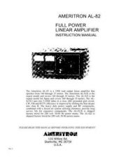 Buy AMERITRON AL82 INSTRUCTIONS by download #335696