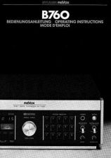 Buy Revox B760 Operating Guide by download Mauritron #313028