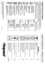 Buy Hotpoint 9773 Washer Operating Guide by download Mauritron #307449