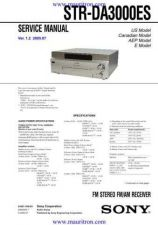Buy Sony STR-DA3000ES Manual by download Mauritron #325697