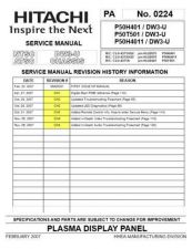 Buy Hitachi DW3-U CHASSIS Service Manual by download Mauritron #289928