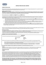 Buy De LonghiSospiri Electric Fire Operating Guide by download Mauritron #316485
