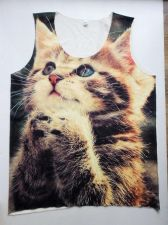 Buy Kitten Animal Print Tank Top Unisex Men Women Shirt Lovely Pet Free Size New