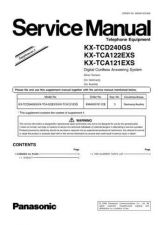 Buy Panasonic KX-TCA121FXT---- Manual by download Mauritron #299703