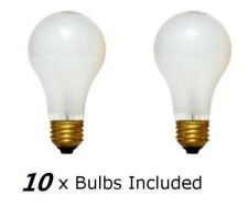 Buy Set of 10 100% Legal -75 Watt -10000 Hour- Frosted Newcandescent Light Bulbs