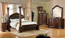 Buy ANTIQUE BEDROOM SET QUEEN KING BEDROOM FURNITURE BED & 2 x NIGHT STANDS CM7271