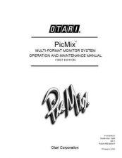 Buy Otari PICMIX MON E1 by download Mauritron #314591