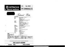 Buy Hitachi VTF350A1 Service Manual by download Mauritron #287168