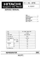 Buy Hitachi R-19A3GV Service Manual by download Mauritron #290843
