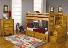Buy Bunk Bed Multifunctional youth Bedroom Furniture Set with stairway chest drawer