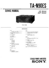 Buy Sony TA-N90ES Amplifier Service Manual by download Mauritron #320349