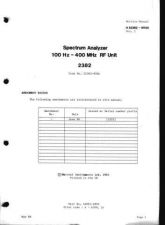 Buy Marconi 2382 Spectrum Analyzer 900A RF Unit Service Mmanual-Vol2-May86 by download Ma