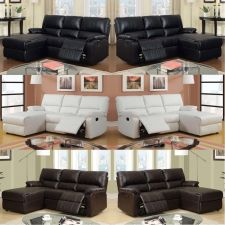 Buy Recliner Sectional Sofa Furniture Leather Sectional Couch 8 Colors Ships to US