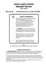 Buy Biddle DET3TC Operating Guide by download Mauritron #309630