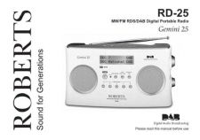 Buy Roberts RD25 DAB Digital Radio Operating Instruction Guide by download Mauritron #327