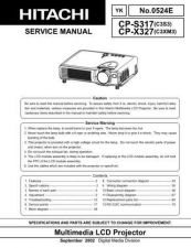 Buy Hitachi CPS317X327 Service Manual by download Mauritron #284818