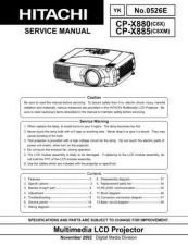 Buy Hitachi CP-X938WZ Service Manual by download Mauritron #289321