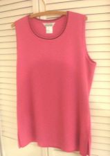Buy Exclusively Misook Sleeveless Top M 6 10 Rose Pink Acrylic Scoop Neck NWOT M