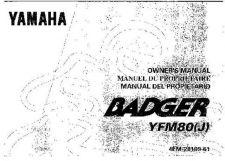 Buy Yamaha 4EM-28199-61 Quad ATV Bike Manual by download #334250