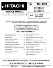 Buy Hitachi 36FX42B-CZ75 Service Manual by download Mauritron #287847