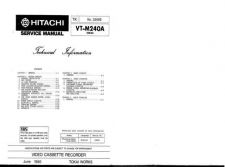 Buy Hitachi VTM284A Service Manual by download Mauritron #287360