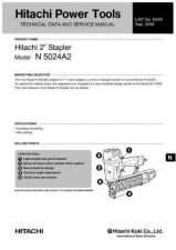 Buy Hitachi N-5024A2 Tool Service Manual by download Mauritron #320082