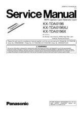Buy Panasonic TDA0196_SUP2 Manual by download Mauritron #302191