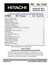 Buy Hitachi 32UDX10S MF1Y Service Manual by download Mauritron #287788