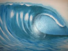 Buy Wave Surf Print Painting on canvas ready to hang. finished off by hand. original