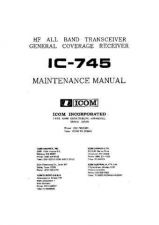 Buy Icom IC-745 manual by download Mauritron #329484
