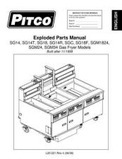 Buy Pitco SG14 SG-14 Service Manual by download Mauritron #328840