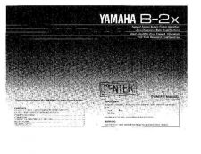 Buy Yamaha B-2 Operating Guide by download Mauritron #315299