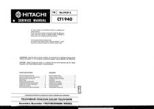 Buy Hitachi CT1941 Service Manual by download Mauritron #285014