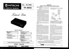 Buy Hitachi VTMX211A Service Manual by download Mauritron #285904