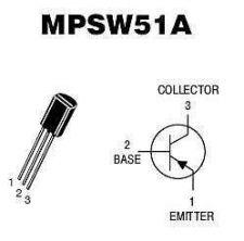 Buy Transistor - MPSW51A PNP 1-Watt Amplifier - 12 Pieces