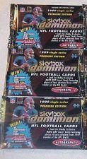 Buy 3 packs new 1999 SKYBOX DOMINION football HOBBY NFL