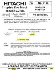 Buy Hitachi PA0199 Service Manual by download Mauritron #331917