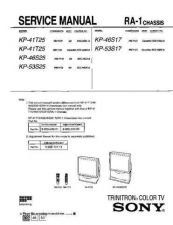 Buy Sony KP53S25 TV Service Manual by download Mauritron #322886