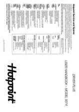 Buy Hotpoint 9374 Dryer Operating Guide by download Mauritron #313396