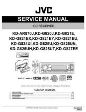 Buy JVC KD-AR870 Service Manual by download Mauritron #274843