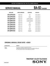 Buy Sony KV27V36 TV Service Manual by download Mauritron #322910