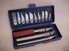 Buy New razor sharp hobby knife KNIVES cutting SET w/case